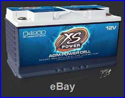 XS Power D4900 12 Volt BCI Group 49 AGM Battery, M6 Terminal Hardware Included