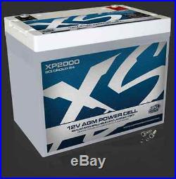 XS Power XP2000 12 Volt BCI Group 24 AGM Battery, M6 Terminal Hardware Included