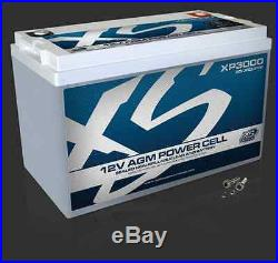 XS Power XP3000 12 Volt BCI Group 31 AGM Battery, M6 Terminal Hardware Included